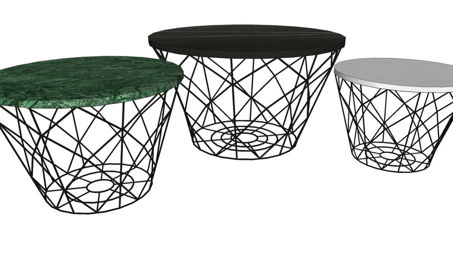 81832 Coffee Table East Round 3-Set