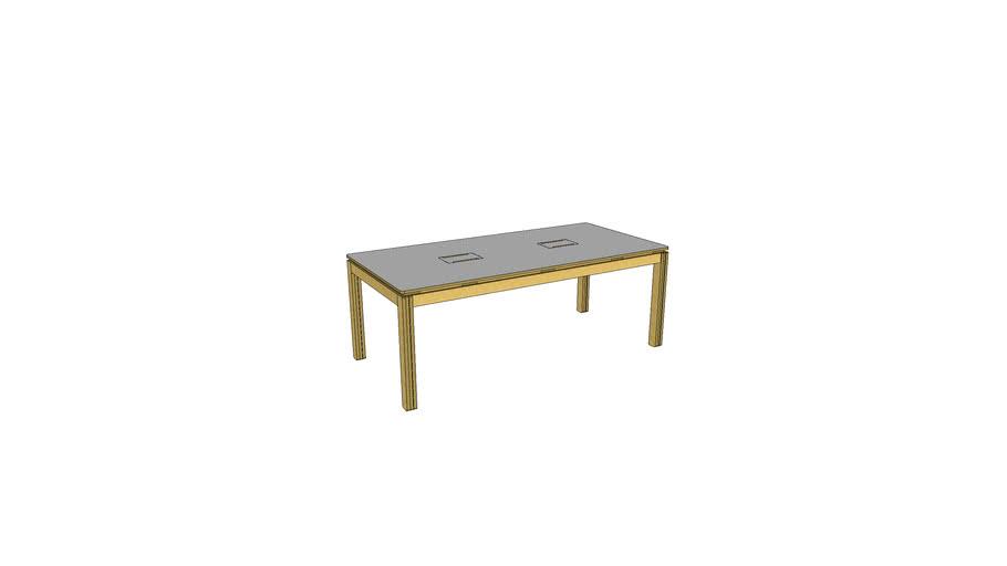 9003 - (V2) bureau partagé - meeting table - Atelier Minassian
