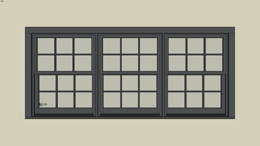 "Kolbe Ultra Sterling Double Hung UDH3220-3 (F.S. 9'-4 1/2"" x 4'-0 7/16"" R.O. 9'-5"" x 4'-1"")"