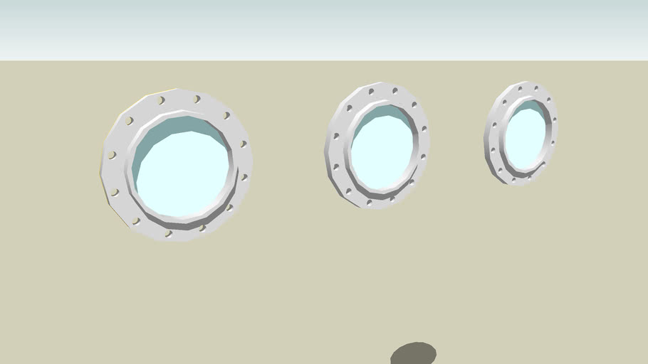 tres ventanas de ojo de pez
