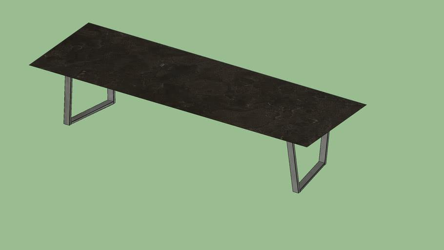 Dritto Side & Coffee Table 120x40 Pietra d'Avola
