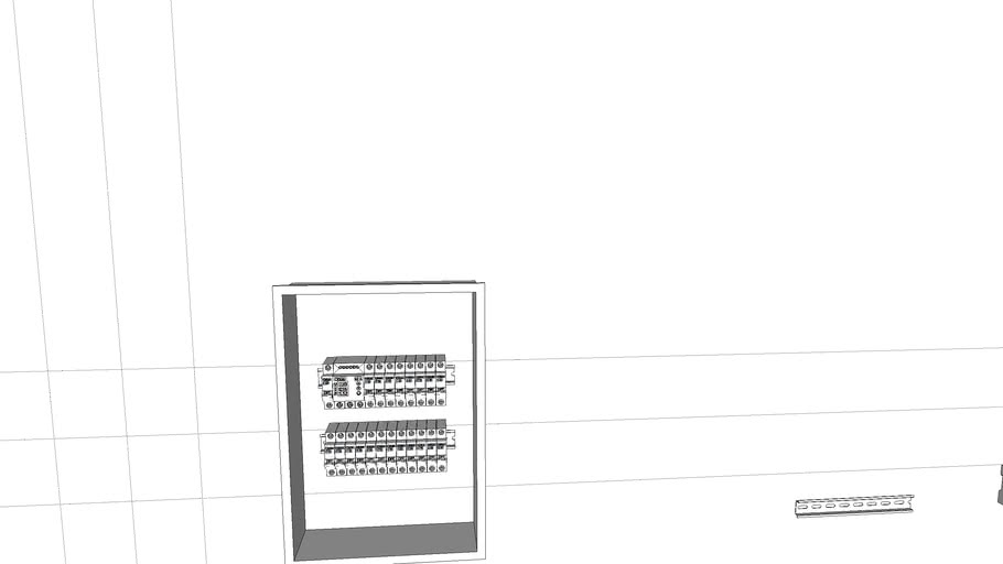 Electrical panel with automatic devices. Электрический щит с автоматами