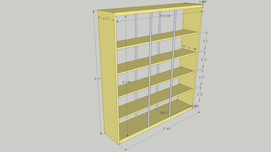 Kraft bookcase