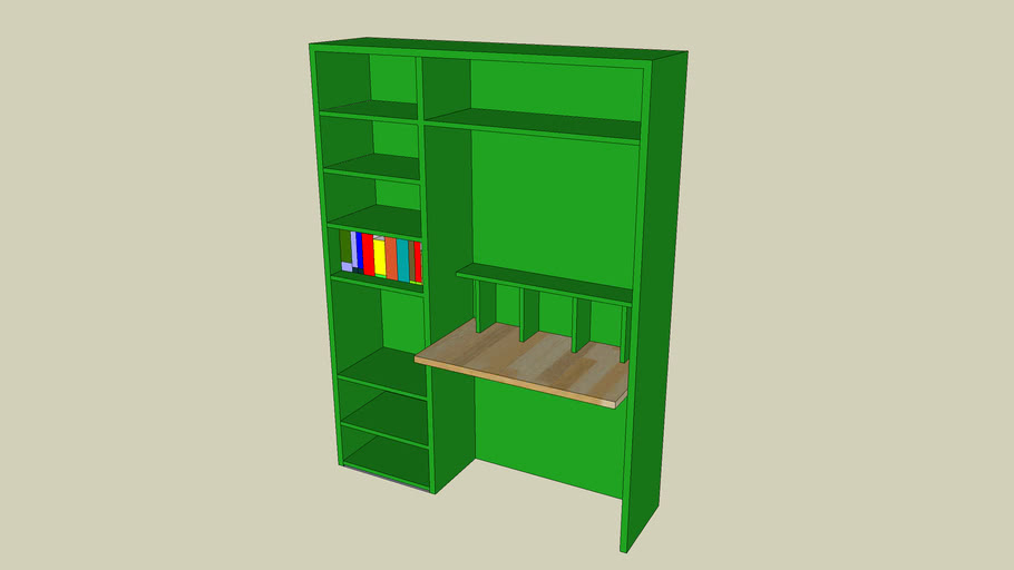 Bookcase with Desk / Computer space