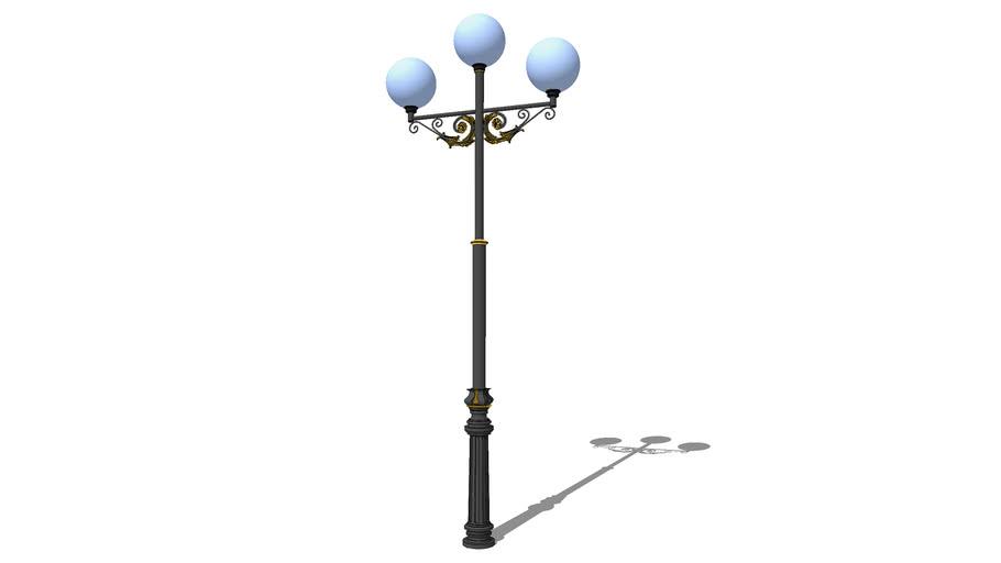 Уличный фонарь А-12-3, 3 плафона / Streetlights A-12-3, 3 lamps