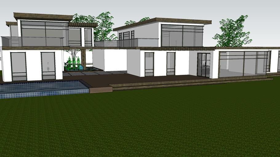 Japanese inspired modern house.