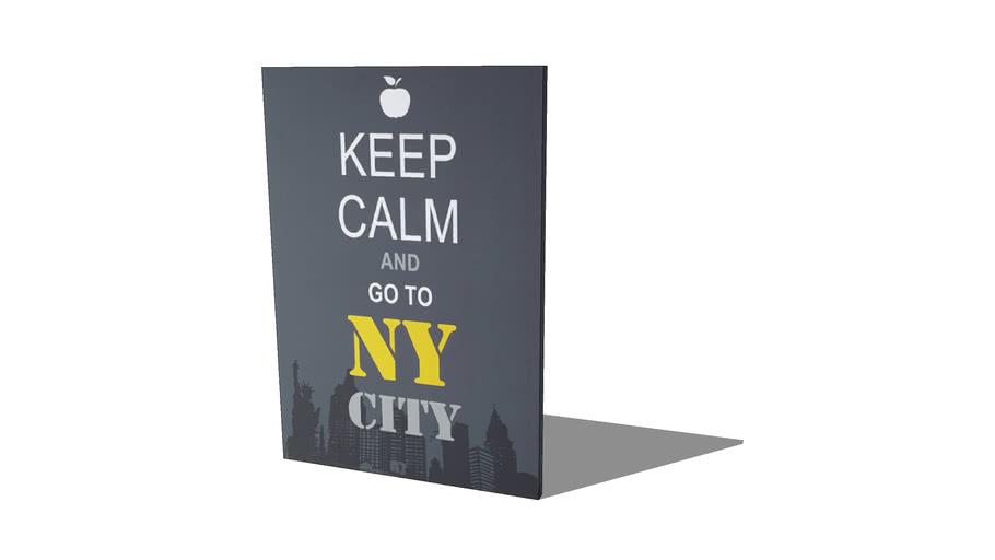 QUADRO KEEP CALM AND NY CITY