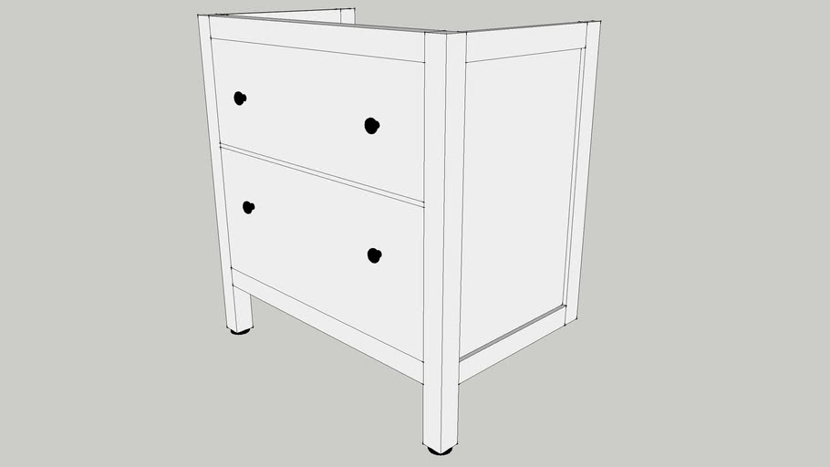 IKEA HEMNES Wash-stand with 2 drawers 80x47x83 white
