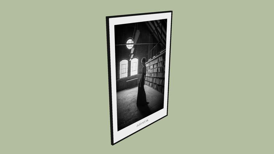 "BRODZIAK Poster #05 ""Library"" 100x70cm - Black&White, Photography, Image"