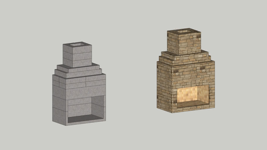 """New Age 42"""" Fireplace Kit with Chimney"""