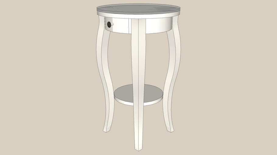 Hemnes Bedside Table Round White
