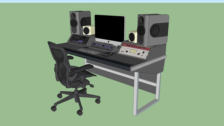 Custom Shallow Studio Desk