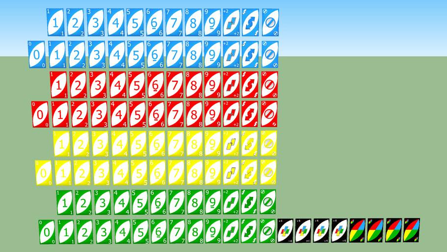 Baraja completa del UNO (108 cartas)