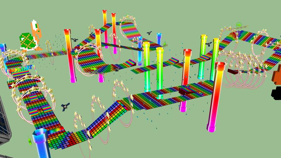 SNES Rainbow road (v 3.0)