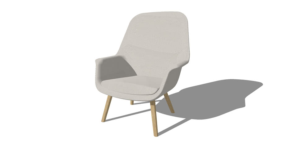Smile Lounge Chair, Wood legs, High Back, Hee Welling, by Icons of Denmark