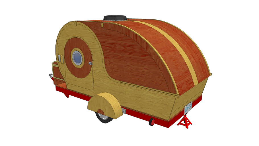 Retro Camper Complete Model - Dos Chubby