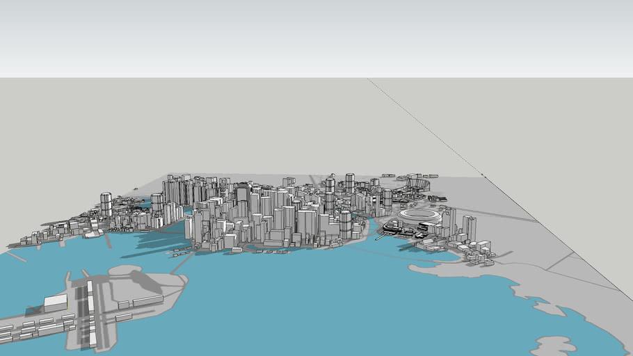 Night City 3D model - Cyberpunk 2077