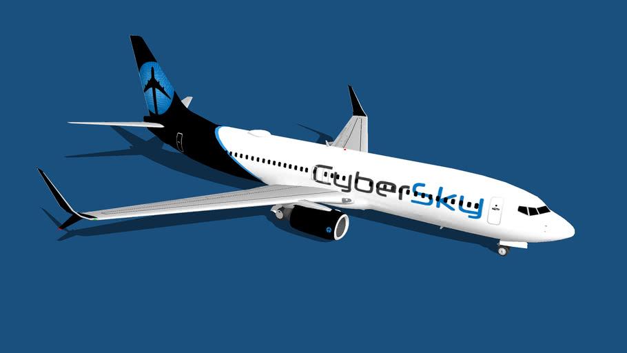 CyberSky Boeing 737-800 Scimitar Winglets