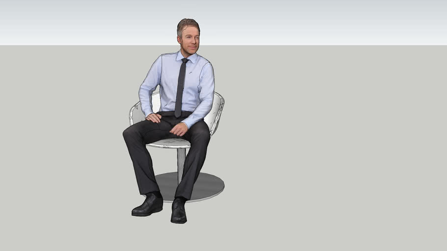 Business Man on Panel Session Chair