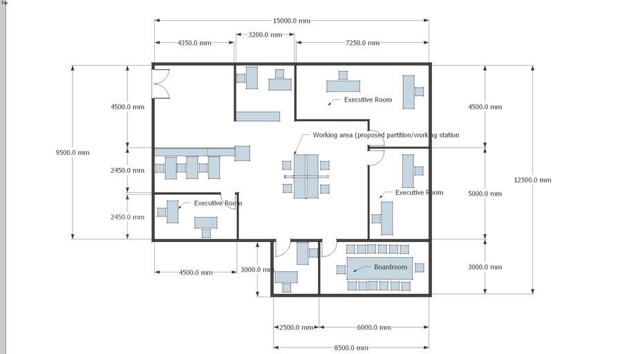 Office floor plan   3D Warehouse