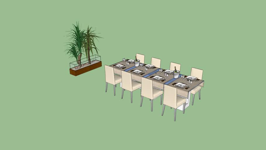 mesa 8 lugares