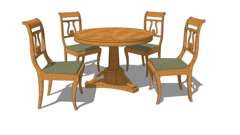 Biedermeier dining set