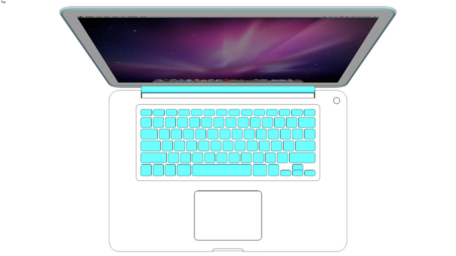 PAP- White MacBook Pro (Light Blue Keyboard)