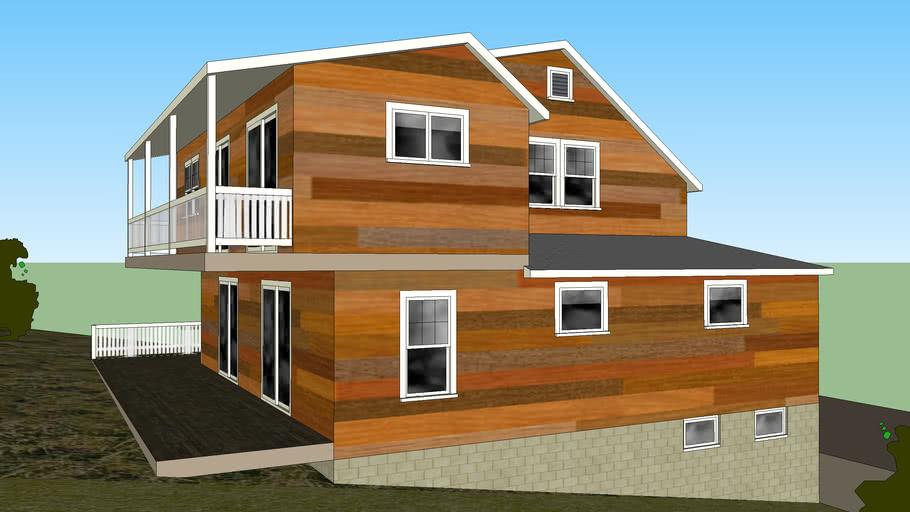 3 этажный дом из бруса