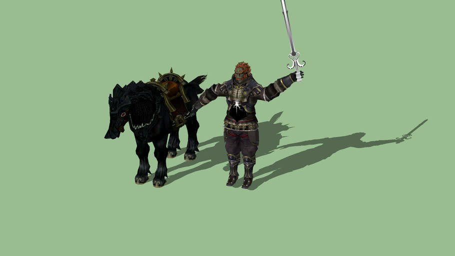 Ganondorf With Sword And Horse 3d Warehouse