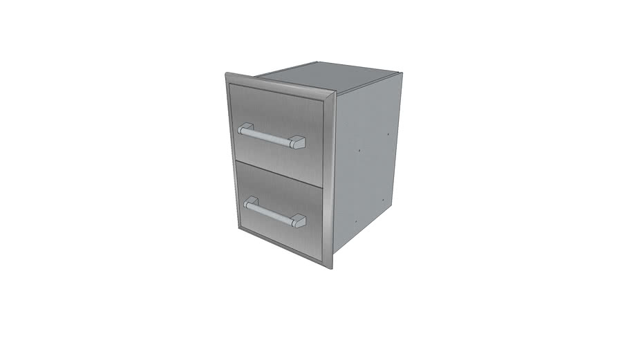 Two Drawer Cabinet - Coyote Outdoor Living, Inc.   3D ... on Coyote Outdoor Living Inc id=95742