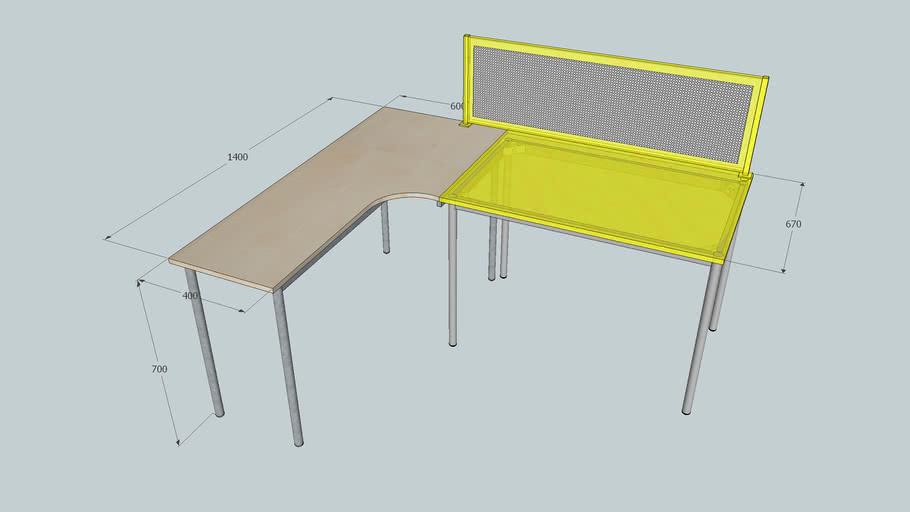 GOezGO 20140122 訂做P系列轉角桌