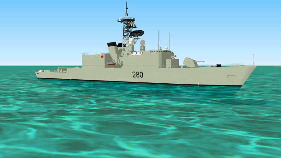 DDH-280  'Bunny eared' HMCS Iroquois class Destroyer