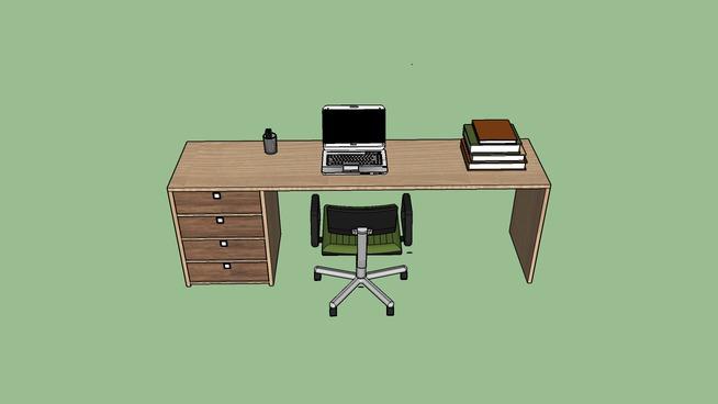 Mesa Office Decorada