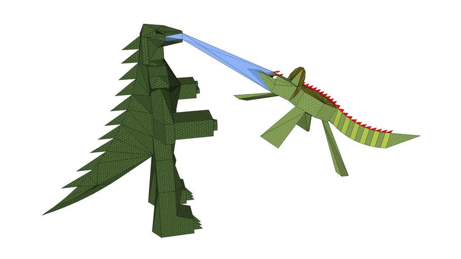 Godzilla vs Trisaurus