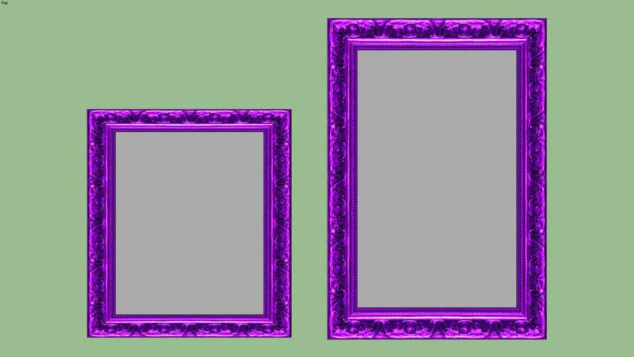 espelho classico roxo