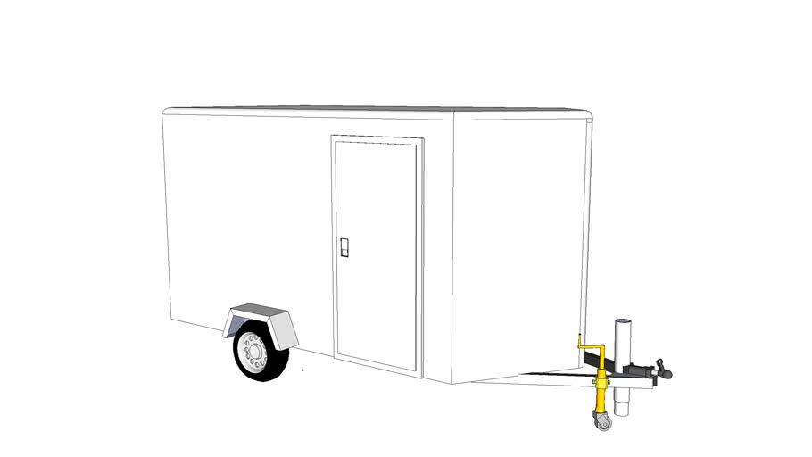 14 ft wells Cargo V Nose Enclosed trailer