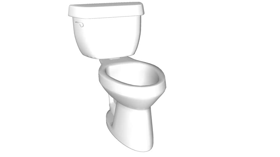 K-3493-T Highline(R) Classic Comfort Height(R) Comfort Height(R) two-piece elongated 1.6 gpf toilet with Pressure Lite(R) flush technology, left-hand trip lever and tank cover locks, seat not included