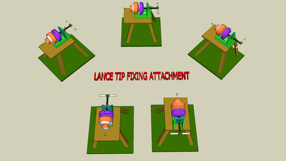 Lance tip fixing attachment