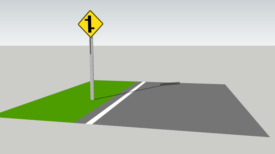 Staggered Junction Sign 2 / Señal Empalmes Sucesivos 2