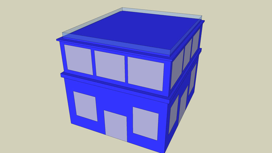 blue monopoly house