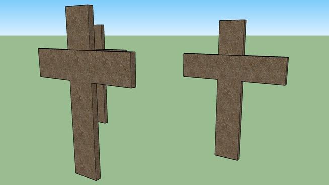 3-Wooden Crosses