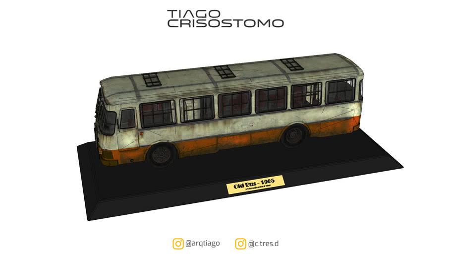 Miniatura ônibus velho