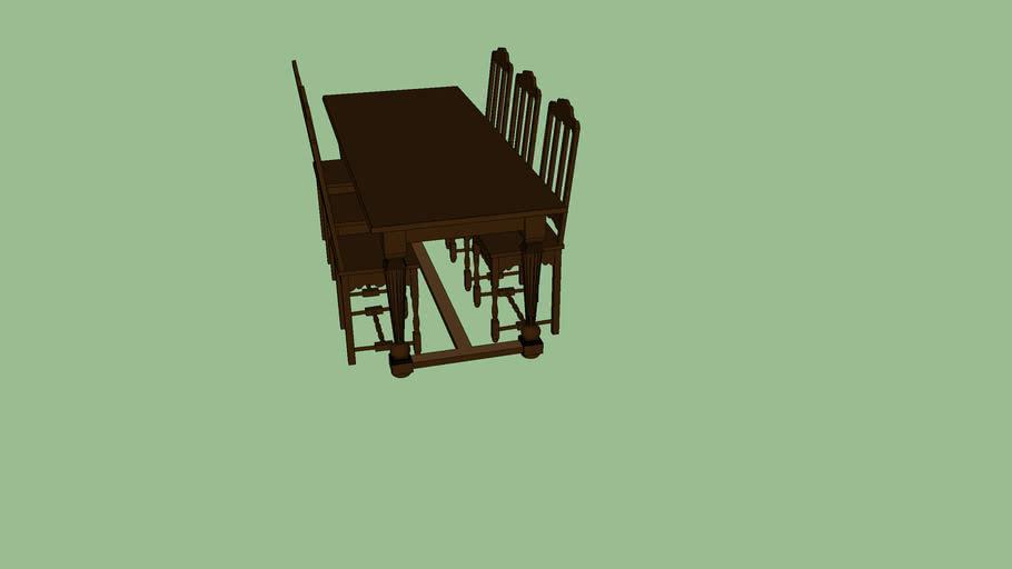 Table Et 6 Chaises 3d Warehouse