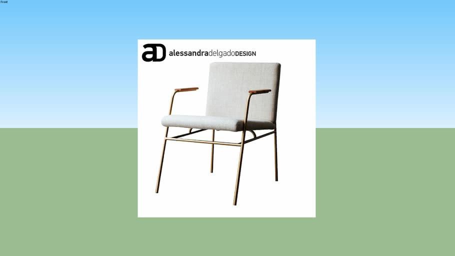 AL-Lau cadeira com braço