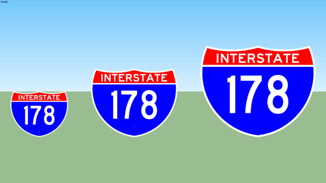 Interstate 178 Sign