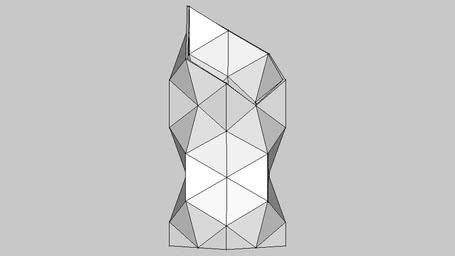 Vase rectangle triangulated
