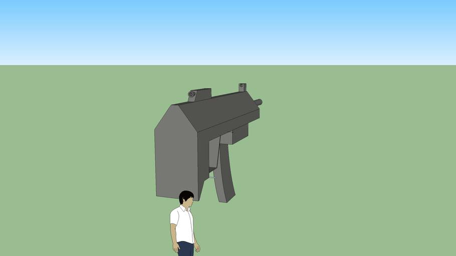 Futuristic Gun/ Sub ametralladora futurista