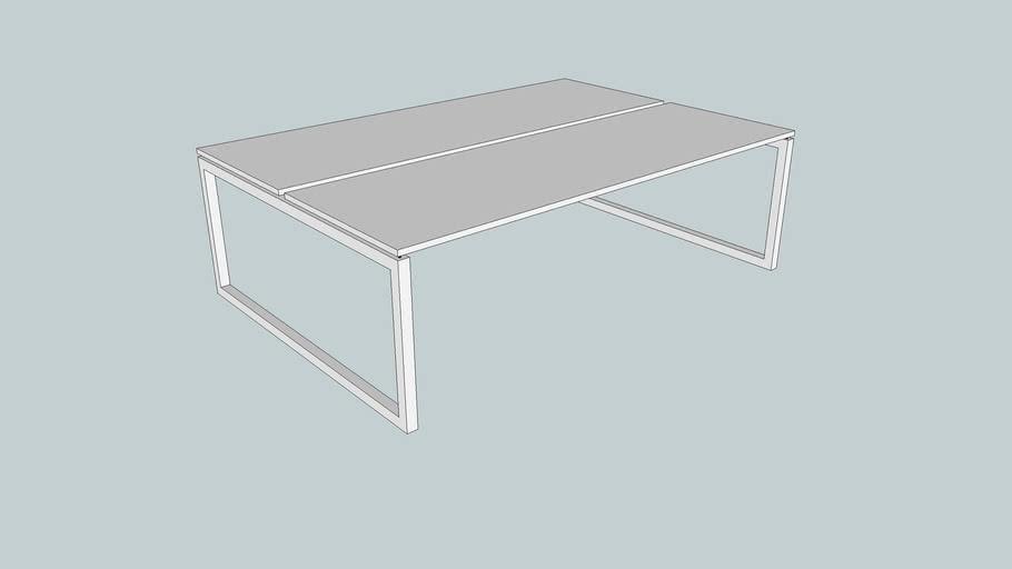 Connex P4Z bench, O-poot in hoogte verstelbaar, 240 x 165 cm