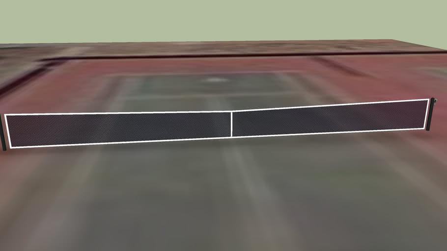 Tennis court #1 at San Marcos High School