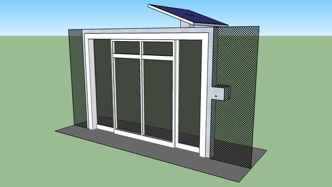 Movable temporary automatic sliding door